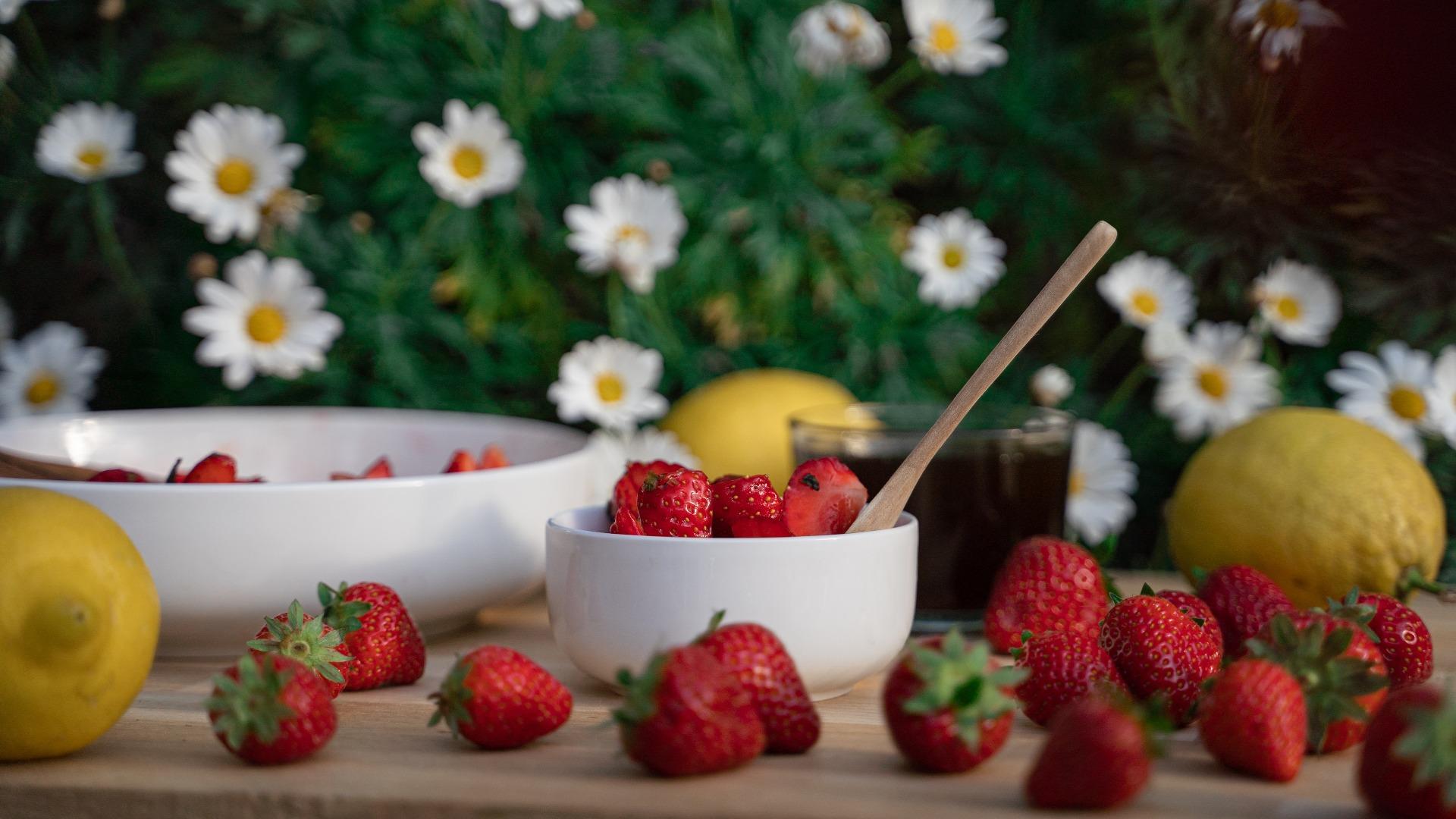 Erdbeerrezept für Erdbeerquark